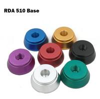 дисплей распылителей оптовых-Clearomizer дисплей базовый атомайзер стенд RDA 510 базовый алюминиевый держатель для 510 резьбы Clearomizers aerotank mega mutation rda RBA tank