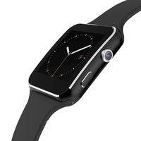 eu assisto venda por atacado-X6 smart watch com câmera touch screen suporte sim tf cartão bluetooth smartwatch para i-oss android phone