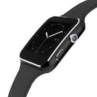 ingrosso telefono della vigilanza dello schermo di tocco della mora-X6 Smart Watch con fotocamera Touch Screen Supporto SIM Card SIM Bluetooth Smartwatch per I-OS Android Phone
