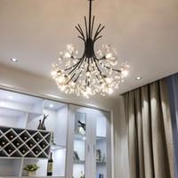 ingrosso luci abc-Modern Chandelier Chrome Golden sospensione sospensione vanità lampada a sospensione hanglamp LED Lighting lustre per soggiorno