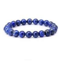 Wholesale lapis lazuli gem for sale - Group buy YYW Natural Real Lapis Lazuli Stone Bracelets Bangles Women Male Simple mm Round Ball Gems Stones Beads Beaded Bracelets