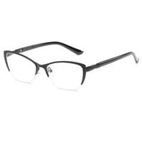 8c33e7a8c5 Wholesale half frame reading glasses for sale - Half Frame Reading Glasses  Women Metal Optical Mirror
