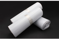 Wholesale adhesive shipping pouches resale online - Discount CM white envelope pouches self adhesive plastic mailer shipping bags Express Courier bags post poly mailings