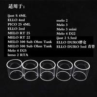 eleaf lemo rta großhandel-Ersatzglas für Eleaf ijust S / ELLO / PICO 25 / MELO RT / MELO 300 Sub Ohm Tank / Melo 4 D25 / Lemo 2 RTA / Melo 3 Mini / Melo 4 D22 / ijust 2