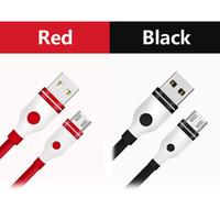 iphone cabo vermelho venda por atacado-2019 novo ponto vermelho tpe micro usb 2a cabo de carregamento rápido andriod para samsung s8 s9 huawei telefone longo cabo do carregador 1 m