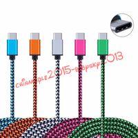 ingrosso filo per s4-Tipo C Cavo intrecciato in nylon tessuto 1m 2m 3m micro V8 pin cavo dati caricabatterie usb per samsung s4 s6 s7 edge s8 telefono android letv lg g5
