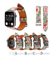 Wholesale 1PCS New For Apple Watch Strap Classic Bee Pattern watchband for iwatch Leather Strap MM mm mm mm