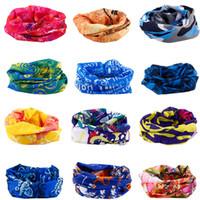 bandana schlauchschal großhandel-Multi Farben Bandana Tube Schal Kopf Gesichtsmaske Hals Gaiter Headwear Snood Beanie