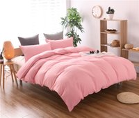 Wholesale bedspread grey king size beds online - Solid Color Bedding set Pink Grey Duvet Cover set doona qulit covers bedspread Super California King Queen size Full twin