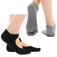 calcetines de yoga al por mayor-Womens Gimnasio calcetines antideslizantes antideslizantes de algodón de corte bajo agarre mecánicos corporales Yoga Calcetines de baile para estudio Yoga Pilates Crew calcetines G517S