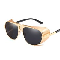 9999f605147 Vazrobe Steampunk Sunglasses Men Women Gold Brown Red Vintage 80s Punk Hip  Hop Gothic Retro Hippie Party Sun Glasses 2018 Large