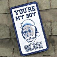 freie taktische weste großhandel-Taktische Ausrüster Sie sind mein Junge Blue Violent Little Machine Shop Moral Patch MC Front der Jacke Eisen auf Kleidung Weste Parch Kostenloser Versand