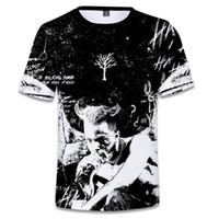 j tees venda por atacado-2018 New Hip Hop Camiseta Xxxtentacion J Cole Dogg Drake Moda Masculina Hipster Tee Rap manga curta camisa 3D Top Plus Size