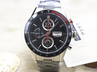 Wholesale calibre 16 black dial - high quality Luxury Brand Automatic Watch Calibre 16 CV2A1R Men Black Dial Chronograph Mens Watch Watches The best watch