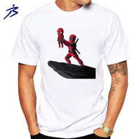 Wholesale deadpool t shirt - High quality cotton cool funny deadpool printed men T shirt casual short sleeve o-neck T shirt for men tops tees