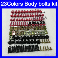 Wholesale kawasaki zx6r fairing 1995 - Fairing bolts full screw kit For KAWASAKI NINJA ZX6R 94 95 96 97 ZX-6R 6 R ZX 6R 1994 1995 1996 1997 Body Nuts screws nut bolt kit 23Colors