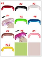Wholesale Air Nail Dryers - Mini USB 9W 3 LED UV Nail Dryer Curing Lamp Machine Gel Nail Polish Powerful UV Lamp Polish Light Nails Facial Tools Fast Dry Multi Colors