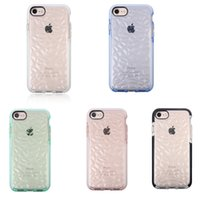 Wholesale Diamond Pattern Iphone Case - EVO GEM TPU Case Rubber Rugged Protective Case for iphone X Transparent Cover Diamond Pattern Case for iphone 8