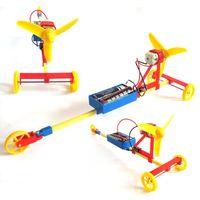 f1 araba oyuncakları toptan satış-Teknoloji küçük üretim DIY monte güç araba öğrenci yarışması bulmaca modeli oyuncak F1 hava kürek elektrikli yarış araba