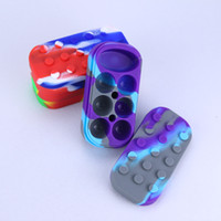 Wholesale oil can silicone container resale online - Nonstick Wax Containers silicone big wax can Silicon container Colorful wax jars dab storage dabber jar oil vape pen Dry Herb