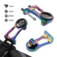 Wholesale gopro adapters - 3 in 1 Bicycle Computer Mount Holder Headlight Clamp Bike Handlebar Extension Bracket Adapter for GARMIN Edge GPS for Gopro Hero