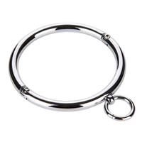 Wholesale stainless necklace bdsm resale online - Metal Collar BDSM Bondage Slave Fetish Necklace Stainless Steel Sex Toys for Couples Adult Sex Accessories for Woman Y1893001