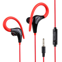 Wholesale ear buds microphone - 3.5mm Sport Running Headphones Wired In Ear Earphone Earbuds With Mic Stereo Bass Music Handsfree Earhook Ear Buds For iPhone Samsung Phones