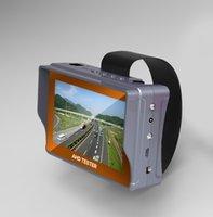monitores de prueba de cámara al por mayor-4.3 pulgadas analógico CCTV cámara probador monitor analógico cámara CVBS prueba UTP cable prueba 12V1A salida