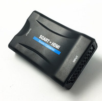ingrosso av monitor adattatore-Prezzo poco costoso HDMI a Scart convertitore AV segnale Adattatore ricevitore hdmi 1080 p per Monitor PC Smart phone elemento caldo