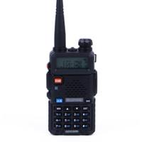 jambon telsiz portatif telsiz toptan satış-Baofeng UV5R Walkie Talkie Profesyonel CB Radyo İstasyonu Baofeng UV5R Transceiver 5W VHF UHF Taşınabilir UV 5R Av Ham Radyo