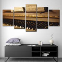 Wholesale musical paintings art for sale - Canvas Paintings Wall Art Home Decor HD Prints Pieces Vintage Piano Pictures Musical Instruments Poster Living Room