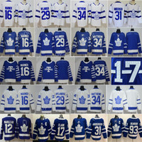 serie del estadio del jersey del hockey al por mayor-2018 Stadium Series Toronto Maple Leafs Auston Matthews Jersey Arenas Hockey Mitchell Marner William Nylander Frederik Andersen Hombres Juventud