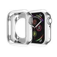 ultra slim smart watch großhandel-Ultradünnes Gehäuse TPU-Beschichtung Stoßfänger Leichter, stoßfester Schutz Überzogener Deckel Schlanker Schalenrahmen für Apple Watch Series 4 44mm 40mm