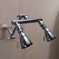 "Wholesale valve manifolds - Good Quality Dual Shower Heads Adjustable 9"" Shower Manifold Arm + a pair of Shut Off Valves"