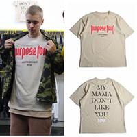 ingrosso justin bieber alto in alto-Maglietta Fashion Justin Bieber Maglietta da uomo stampata High Street T-Shirt Hip Hop Tops T-shirt Plus Size S-3XL