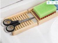 sèche-cheveux monté achat en gros de-Vente chaude 200 PCS Bambou Naturel En Bois Plat À Savon En Bois Porte-Savon Support De Stockage Porte-Savon Plaque Boîte Conteneur pour Bain Douche Salle De Bains