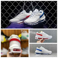 876a4173dcd1 2018 New Brand 97 BW x Skepta London Bronze White Red Blue two-tone sport  Airs Running Shoes 97s Mens AO2113-100 Trainers Designer Sneakers