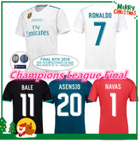 Wholesale Champions League Shirt - 2018 madrid Jersey Benzema Ronaldo ASENSIO football Soccer Modric Kroos Sergio Ramos Bale Marcelo 18 19 Champions League Real Madrid shirts