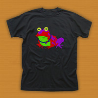 Wholesale frog clothing resale online - Futurama Hypnotoad Hope Frog Funny Black T Shirt Size L XL XL T Shirt Casual Short Sleeve For Men Clothing Summer