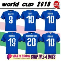 Wholesale fans clothing - Best quality 2018 world cup home soccer jersey fans top thai aaa quality football shirts soccer clothing custom name number buffon