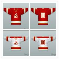 Wholesale flame logo - Good Custom Men's Hockey Jersey Throwback Atlanta Flames 1972-73 White Red Jersey Stitched Logos free shipping
