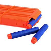 juguetes de revistas al por mayor-Soft Bullet Clips 12 Bullets Dart Gun Clip de la revista Clips para Nerf Toy Dart Gun