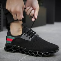 Wholesale 2018 new hot sale men s flying weaving sports shoes new casual shoes explosions blade sports shoes