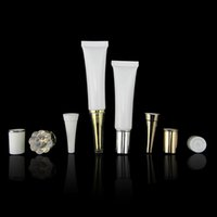Wholesale packaging 15ml - Free Shipping - 15ML White Empty Cosmetic Packaging Plastic Soft Tube Eye Cream Gel Packaging Tube Containers