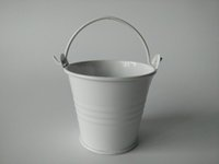 Wholesale growing wedding flowers - tin pots 30Pcs Lot D5.5*H5CM easter egg pot tin pots Mini Pail candy holders White Wedding favor Small Buckets Metal SF-016W