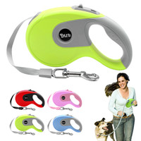 Wholesale Dog Retractable Leash 5m - Wholesale-5m Retractable Dog Leash Automatic Extending Walking Lead For Medium Large Dogs Up to 88lbs Tangle Free