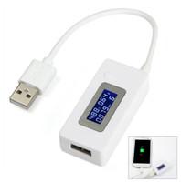 dedektörlü cep telefonu toptan satış-LCD Ekran Mini Yaratıcı Telefon USB Tester Taşınabilir Doktor Gerilim Akım Ölçer Mobil Güç Şarj Dedektörü