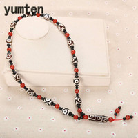 Wholesale natural gem jewellery for sale - Group buy Yumten Religious Necklace Natural Agate Beaded Chain Power Gem Jewellery Women Buddhism Bijoux Geometric Accessories Red Bead