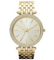 сверкающие часы оптовых-Ультра тонкий элегантный новый высокое качество роскошный кристалл алмаза часы женщины золотые часы стальной полосы розовое золото игристое платье наручные часы Дро