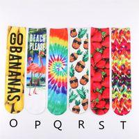 Wholesale Free 3d Golf - Length 42 cm 3D Printed Socks Unisex Cheerleader Long Socks Boys & Girls Ankle Socks Adult Sports Stocking Multicolors Free DHL Fedex UPS